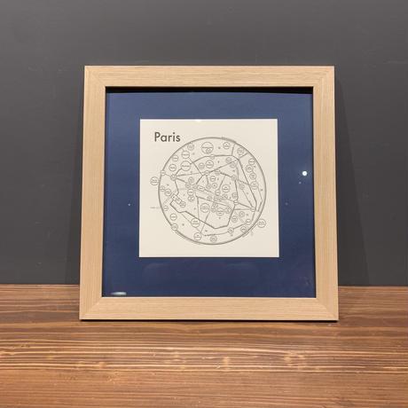 Map in Frame - PARIS (black on white)