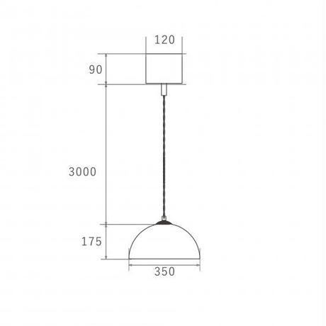 COPEN PENDANT LAMP - White Ssize