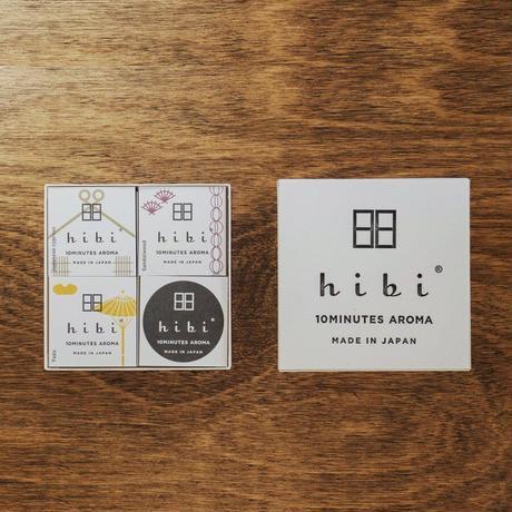 hibi お香スティック 和の香り3種ギフトボックス 専用マット付