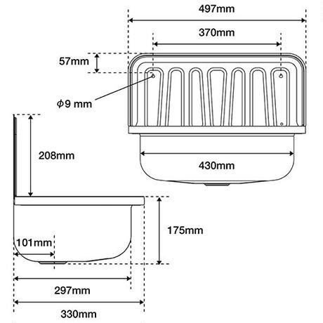 Quantex Utility sink - Black enameled
