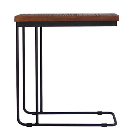 U IRON SIDE TABLE BR
