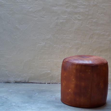 CY LEATHER STOOL