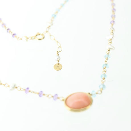 K18YG Colors 深海珊瑚ネックレス