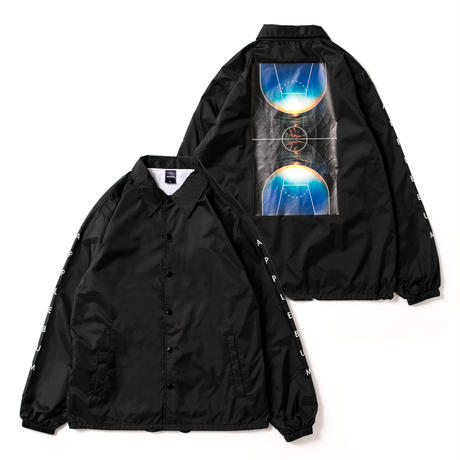 """Basketball Court"" Coach Jacket [Black]"