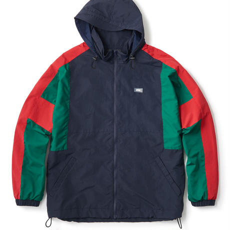 COLOR BLOCKED NYLON TRACK JACKET