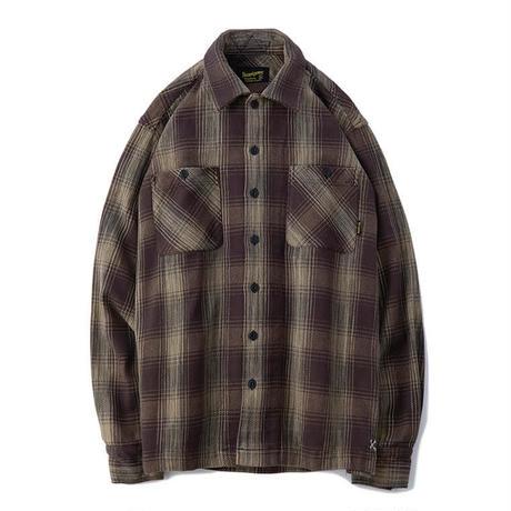 BLUCO  HEAVY NEL SHIRTS -ombre check- OL-047-019