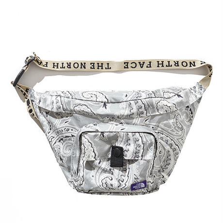 Paisley Print Logo Tape Lightweight Waist Bag