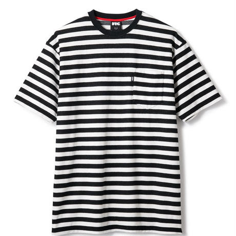 STRIPED POCKET TERRY TEE