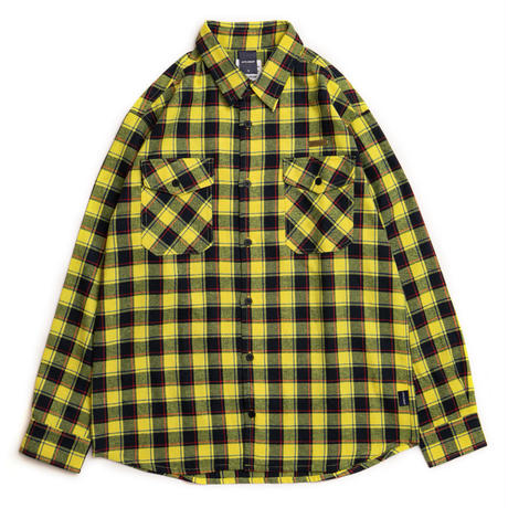 Yellow/Navy Check Nel Shirt