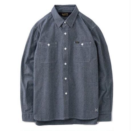 ブルコ BLUCO シャツ シャンブレー ワークシャツ 長袖シャツ シャンブレーシャツ CHAMBRAY WORK SHIRTS L/S OL-121-020