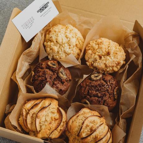 季節のヴィーガン・フルーツマフィン セット 6個入り <Seasonal Vegan Fresh Fruits Muffin>