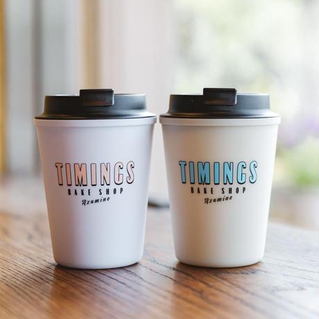 タイミングス ・ウォールマグスリーク(ホワイト/ピンクロゴ) <TIMINGS WALLMUG SLEEK WHITE/PINK LOGO>