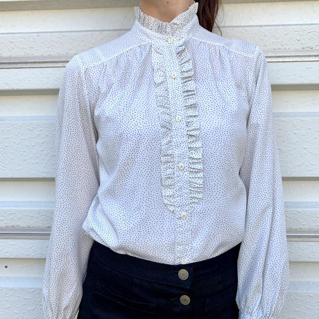 Dot Frilled Shirt