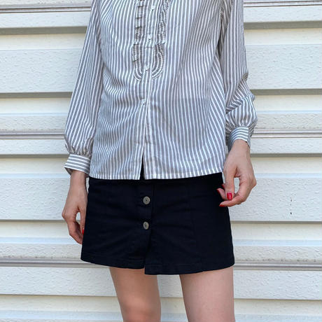 Stripe Frilled Shirt