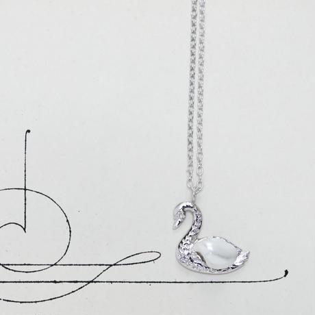 スワンペンダント*silver + Rhodium