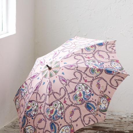 晴雨兼用傘「アンティーク時計」