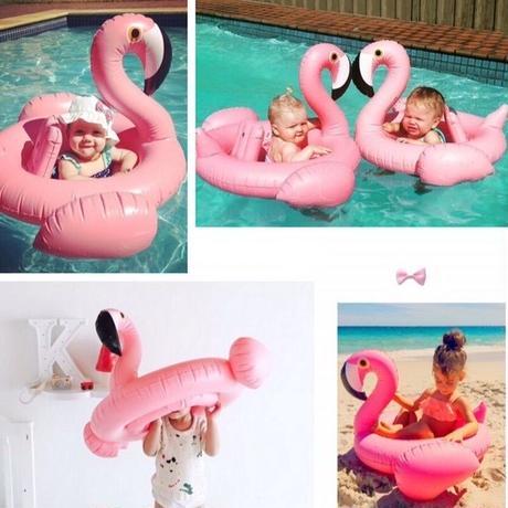 ベビー キッズ 子供用 フラミンゴ浮き輪