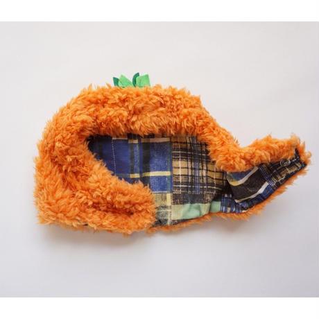 ブヒの実フーディーキャップ/オレンジ*フレブル服TiTiTi