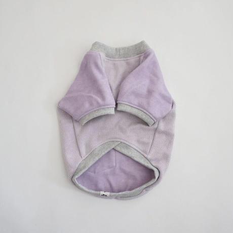ヒッコリーデニムのラグランTシャツ// ラベンダー       *フレブル服TiTiTi