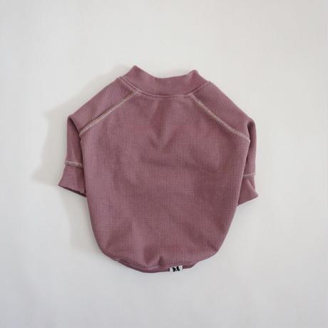 ステッチワッフルTシャツ//ローズ   *フレブル服TiTiTi