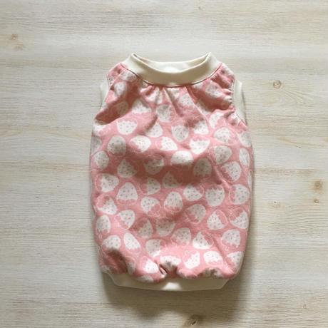 いちご柄のタンクトップ/ピンク    [フレブル服TiTiTi]