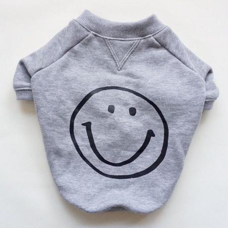 smileスウェットTシャツ // オールグレー