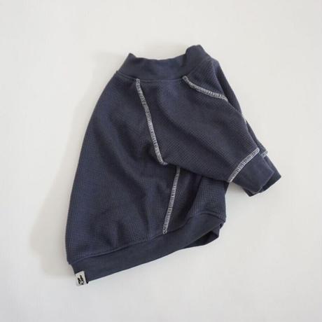 ステッチワッフルTシャツ//スレートブルー*フレブル服TiTiTi