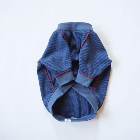 ステッチワッフルTシャツ//ブルー   *フレブル服TiTiTi