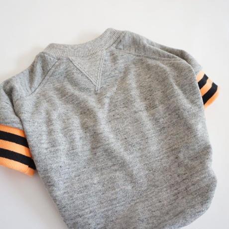 tititiのスウェットusude:ラグランTシャツ//オレンジ×ブラック       【フレブル服TiTiTi】