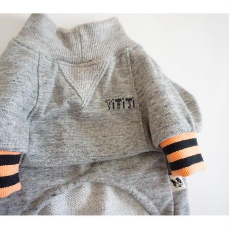 tititiのスウェットusude:ロンパース//オレンジ×ブラック       【フレブル服TiTiTi】