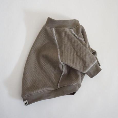 ステッチワッフルTシャツ//トープ   *フレブル服TiTiTi