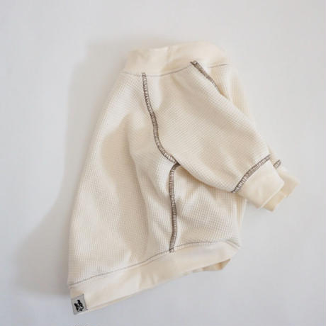 ステッチワッフルTシャツ//ミルク   *フレブル服TiTiTi