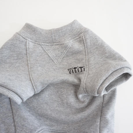 butaさんスウェットTシャツ//グレー  *フレブル服TiTiTi