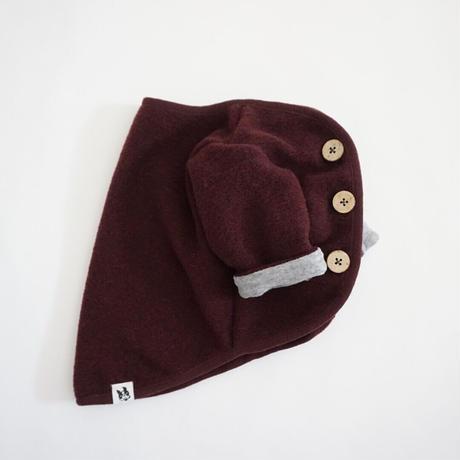スライバーニットのジャケット//ボルドー       *フレブル服TiTiTi