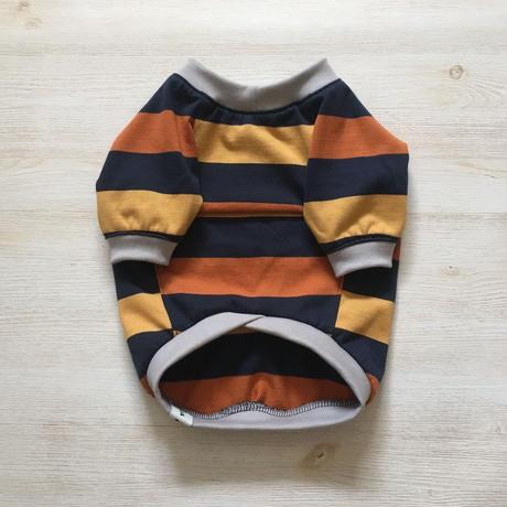三色ボーダーのラグランTシャツ    [フレブル服TiTiTi]