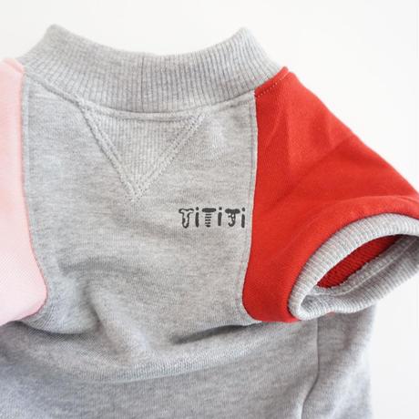 butaさんスウェットTシャツ//ピンクレッド*フレブル服TiTiTi