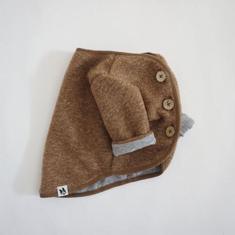 スライバーニットのジャケット//杢キャメル       *フレブル服TiTiTi