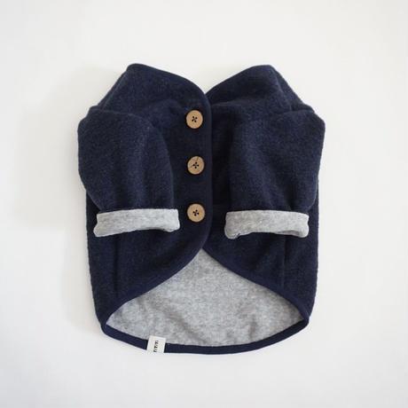 スライバーニットのジャケット//ネイビー              *フレブル服TiTiTi