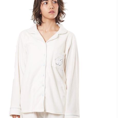 【ラビット刺繍シャツ上下セット】P91454-744