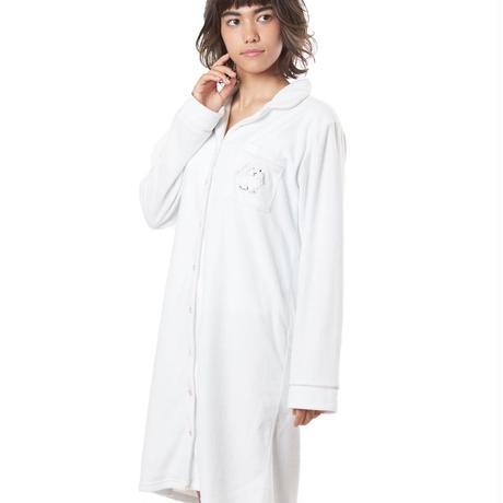 リボン付き【ラビット刺繍シャツワンピース】P91455-744