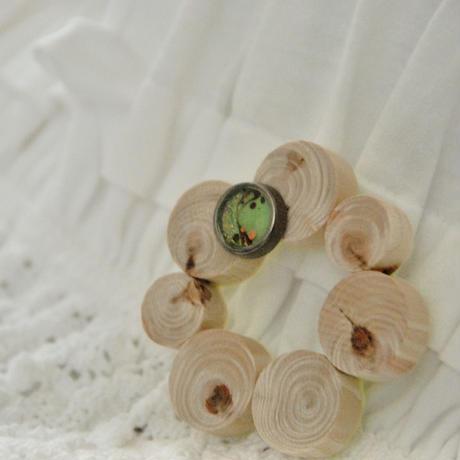 「〇〇〇〇ひかりの輪」グリーンブラウン・自然アート&糸島材木