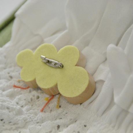 「ひらく華散る葉」ブルーグリーン&桃色イエロー・自然アート&糸島材木