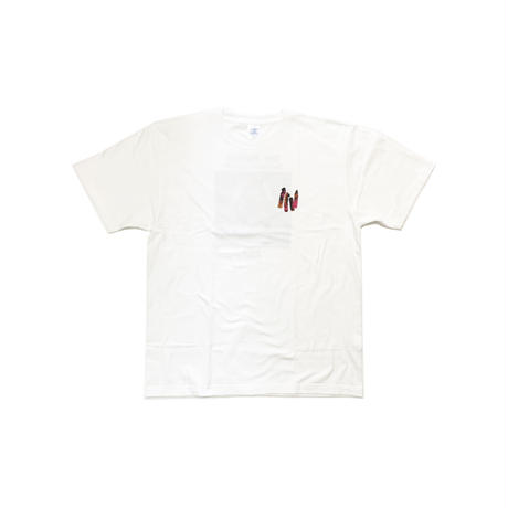 TIMERS DDB T-Shirt WHITE×RED
