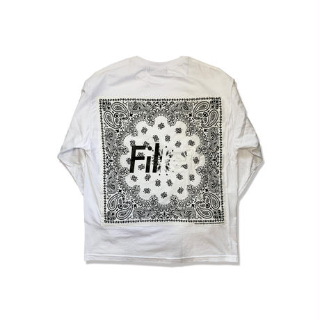 BANDANA Remake NANDANA LONG T-Shirt White