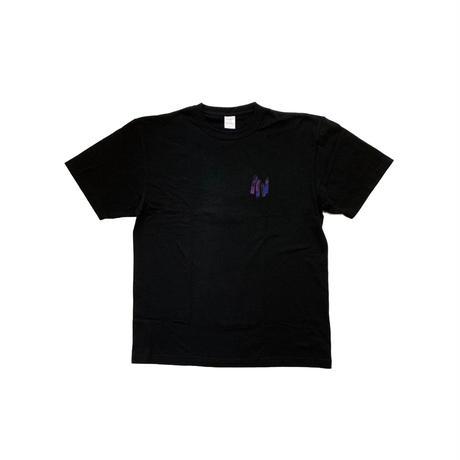 TIMERS DDB T-Shirt BLACK×PURPLE