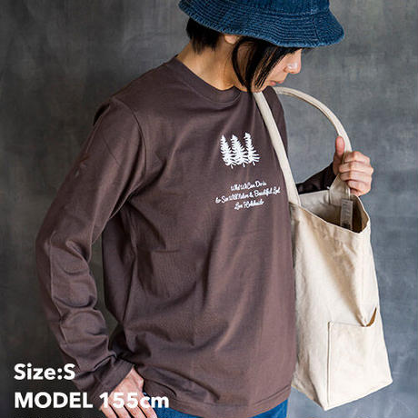 TNOC THE TEE LONG SLEEVE / FOREST Soil Charcoal