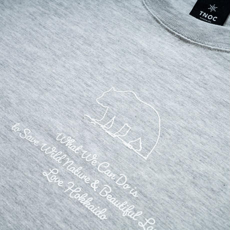 TNOC THE TEE / LIGHT / BEAR LIGHT FOG GRAY