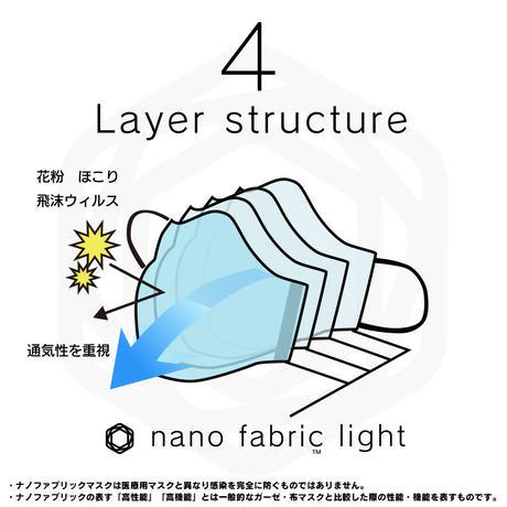 TNOC NANO FABRIC MASK LIGHT(ナノファブリック™マスクライト) ウォーターブルー/スノーホワイト