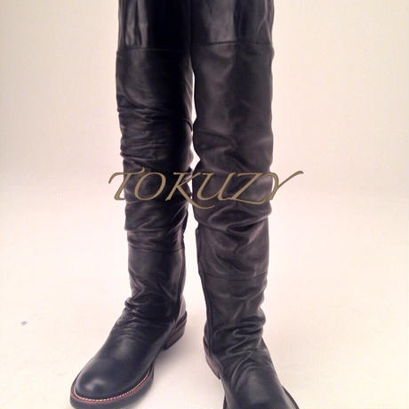 TOKUZY メンズニーハイブーツ Black S size (25〜26cm)