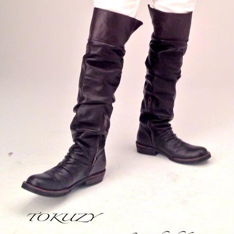 TOKUZY メンズニーハイブーツ   Black M size    (26.5〜27cm)